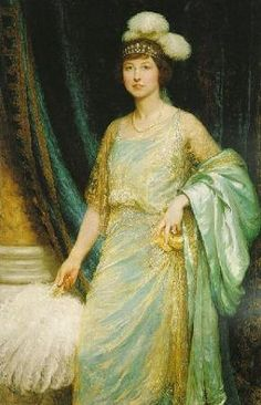 """""""Mrs. Norman Holbrook"""", 1924, by Sir Frank Dicksee (British, 1853-1928)"""