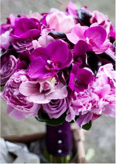 fuschia and pink bouquet