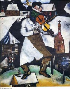 """The Fiddler - Marc Chagall (1914) - The painting on which the """"Fiddler on the…"""