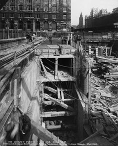 Birkenhead Queensway Tunnel construction 1933 for anniversary weekend of opening Liverpool City Centre, Liverpool History, Duke Of York, George Vi, Under Construction, Baby Booties, Chester, Old Photos, The Good Place