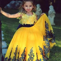 Beautiful Lace Princess Ball Gwon Flower Girl Dress,First Communion Dresses For Girls ,Pageant Dress For Little Girls