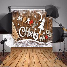 3x5ft Fabric Christmas Theme Wooden Snowflake Alphabet Photo Vinyl Background Backdrop Studio Props