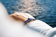 Blue anchor bracelet pharos apparel