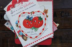 Valentines Day Cards ~ Vintage Lot of 28 ~ Used by smileitsvintage on Etsy