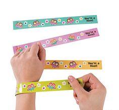 Amazon.com: Owl Party Slap Bracelets - 12 Pc Owl Party Favors: Toys & Games