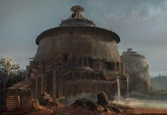 Round house, lp ysg on ArtStation at https://www.artstation.com/artwork/v0KVd