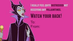 Maleficent from Sleeping Beauty: | 21 Wicked Disney Valentine's Day Cards From Your Favorite Villains