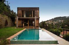 cabaña de lujo con piscina