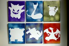 poke silhouettes.....staple a light behind it for a nightlight!