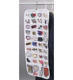 Hanging Jewelry Organizer 80 Pocket by Whitney Jewerly box