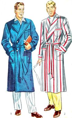 1940s Mens Smoking Jacket Simplicity 2172 Long by paneenjerez, $10.00
