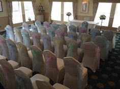 Pastel wedding chair sashes at a Spring Wedding Wedding Chair Sashes, Wedding Chairs, Spring Wedding Inspiration, Norfolk, Sunny Days, Wedding Blog, Pastel, Events, Weddings