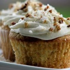 Banana Cupcakes Allrecipes.com So making these today to use up this bunch of bananas. Great for playdate tomorrow!