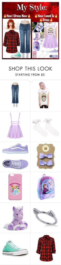 """""""About Me 8"""" by pastel-punk-in-love-with-loki ❤ liked on Polyvore featuring maurices, Hot Topic, Vans, Aurora World, Allurez, Converse and Full Tilt"""