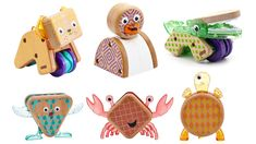 Design guru Jonathan Adler creates a new line of modern wooden toys for kids like these Shapeimals