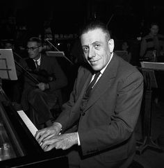 Francis Poulenc (shown here in 1950) portrayed himself in 'Les soirees de Nazelles'.  Credit: BBC