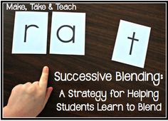 A Strategy for Helping Students Learn to Blend