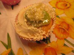Tropische cupcake met kiwi.
