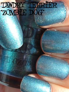 """@TawdryTerrier """"Zombie Dog"""" in the sun - 1 bottle available at https://www.etsy.com/shop/TawdryTerrier #nailpolish #indienailpolish #tawdryterrier"""