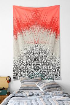 Tapestry Magical Thinking Fractured Geo Tapestry Magical Thinking Sketched Hand Tapestry Elephant Pink Wall Tapestry by Magical Thinking Paisley My New Room, My Room, Dorm Room, Magical Thinking, Dorm Life, Interior Exterior, Interior Design, Dorm Decorations, Apartment Living