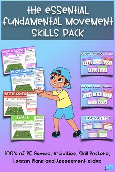 The Essential Fundamental Movement Skills Pack - Physical Education Grade Physical Education Activities, Pe Activities, Health Education, Pe Lesson Plans, Elementary Pe, Pe Lessons, Learning For Life, Pe Teachers, Pe Games