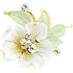 Swarovski Jewelry, Swarovski Crystals, Flower Brooch, Brooch Pin, Jewelry Accessories, Jewelry Design, Beautiful Lines, White Flowers, Costume Jewelry