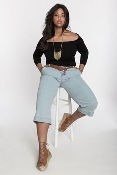 Off The Shoulder Top   Women's Plus Size Fashion   ELOQUII
