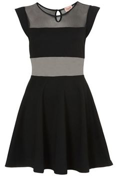 **Bust Panel Skater Dress by Dress Up Topshop