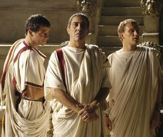 """james purefoy, ciaran hinds, and kevin mckidd in """"Rome"""" Rome Tv Show, Rome Tv Series, Kevin Mckidd, James Purefoy, Ancient Rome, Ancient Greece, Ancient History, As Roma, Rome Costume"""
