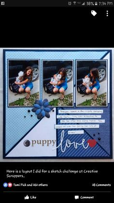 """Puppy Love"".  Nice layout"