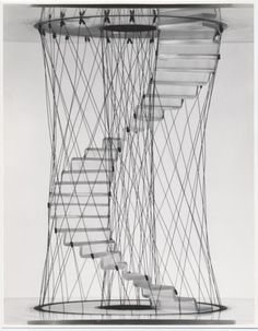 Pio Manzù - design studies of stairs, 1968