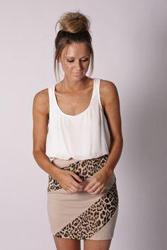 cheetah print skirt ♥