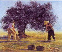 Barahona, Sea, Natural, Painting, Fields, History Of Painting, Olives, Bridge, Paths