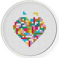 Instant Download,Free shipping,Cross stitch pattern, Cross-StitchPDF, Love ,heart Tetris,zxxc0052 by danceneedle on Etsy https://www.etsy.com/listing/95250347/instant-downloadfree-shippingcross