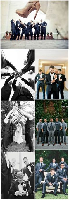 Photography wedding groomsmen - 21 Musthave Groomsmen Photos Ideas to Make an Awesome Wedding Wedding Picture Poses, Wedding Poses, Wedding Photoshoot, Wedding Shoot, Dream Wedding, Wedding Suits, Wedding Bridesmaids, Party Wedding, Wedding Reception