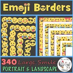 This EMOJI Border set is the perfect collection of 340 colorful borders to spice up your resources and TpT products! What makes this border set unique is it contains a wide variety of borders in many different colors and styles - and they are in PORTRAIT and LANDSCAPE formats! Classroom Decor Themes, Classroom Organization, Classroom Ideas, Emoji Decorations, Letter To Parents, Parent Letters, Emoji Names, The Fun Factory, Emoji Set