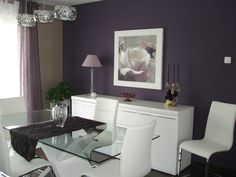 beige and purple dining | Shiny Interior Design and Decoration Blog – Furniture Design and ...