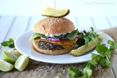 Chili lime black bean burgers!