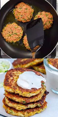 Vegetarian Recipes Discover EASY ZUCCHINI FRITTERS An easy vegetarian recipe thats fun to put together a healthy appetizer or side dish recipe crispy on the outside and perfectly soft on the inside. Tasty Vegetarian Recipes, Healthy Dinner Recipes, Cooking Recipes, Easy Cooking, Soft Food Recipes, Easy Healthy Vegetarian Recipes, Easy Healthy Meals, Healthy Lunch Ideas, Firm Tofu Recipes