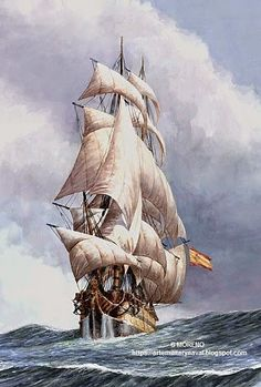 La España del siglo de Oro Blog de Rafael Stormy Sea, Sail Away, Tall Ships, Life Is Like, Sailing Ships, Boats, Vintage Boats, Sailing Boat, Quizes