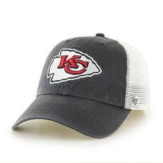 750175151ddd6 Kansas City Chiefs Closer Charcoal 47 Brand Stretch Fit Hat