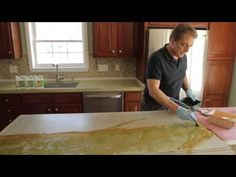 How to Stain Concrete Countertops with Z Aqua-Tint