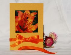Nature  photo floral flower card with bright by IsePaperAndCraft, €5.50