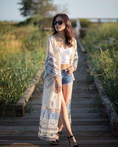 Long Kimono, Kimono Top, Boho Beautiful, Beach Cover Ups, Kimono Fashion, Summer Collection, Sleeve Styles, Sleeves, Tops