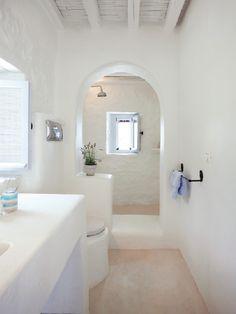 Simple, clean lines, low maintenance bathroom.