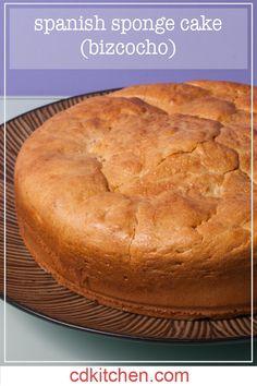 Spanish Sponge Cake (Bizcocho) - Made with eggs, sugar, lemon rind, all-purpose flour | CDKitchen.com