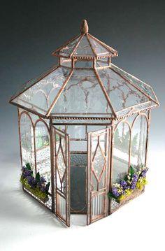 Glass summerhouse