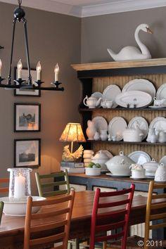 Breakfast Room Paint Color: Sherwin Williams Sticks & Stones