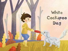 White Cockapoo Dog by Arini Hidayati