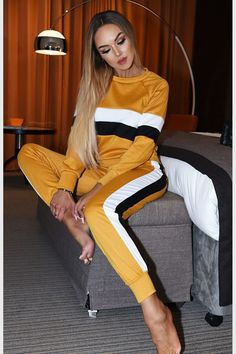 Cherie mustard contrast two piece lounge suit Boutique Clothing, Must Haves, Mustard, Contrast, Cool Outfits, Lounge, Suits, Lady, Clothes
